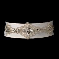 Elaborately Beaded Bridal Belt Sash - White, Ivory, Black - sale!