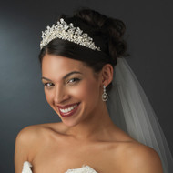 Regal Freshwater Pearl and Rhinestone Bridal Tiara