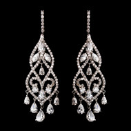 Fabulous CZ Chandelier Bridal Earrings - Silver, Gold and Rose Gold