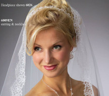 JL Johnson Bridal Veil V5037 with Eyelash Alencon Lace