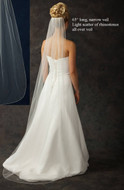 Floor Length Bridal Veil with Rhinestone Scatter - Many Colors!