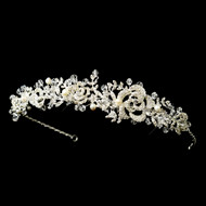 Romantic Freshwater Pearl and Crystal Floral Wedding Headband