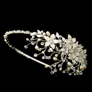 Freshwater Pearl Flower Wedding Headband hp9616