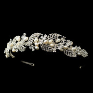Freshwater Pearl and Crystal Headband Tiara Vine