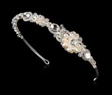 Freshwater Pearl and Crystal Side Accent Headband