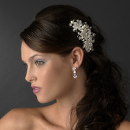 Freshwater Pearl and Rhinestone Floral Bridal Comb