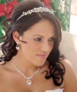 Elegant Bridal Rhinestone Tiara and Jewelry Set