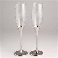 Glitter Glamour Galore Wedding Toasting Glasses