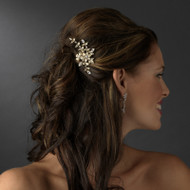 Gold Plated Floral Bridal Comb