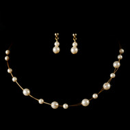 Gold Plated Ivory Pearl Child's Jewelry Set