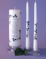 Irish Wedding Blessing Clover Personalized Unity Candle Set