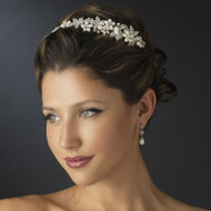 Ivory Pearl and Rhinestone Floral Wedding Headband