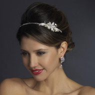 Ivory Pearl and Rhinestone Floral Bridal Headband