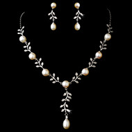 Charming  Pearl and Rhinestone Wedding Jewelry Set