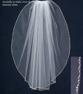 JL Johnson Bridal C111 Beaded Edge Wedding Veil
