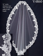 JL Johnson Bridal V4860 Lace Mantilla Waltz Wedding Veil