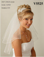 JL Johnson Bridals Shoulder Length V5525 Veil - Many Colors