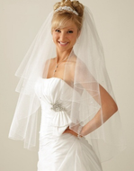 JL Johnson Bridal V5545 Sparkle Illusion Veil with Rhinestones