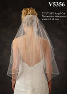JL Johnson Bridal V5356 Elbow Wedding Veil with Rhinestones
