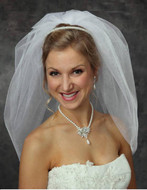 JL Johnson V1400 Single Bubble Wedding Veil - Choice of Many Colors