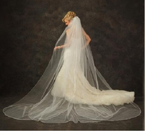 JL Johnson V5310 Cathedral Length Petal Wedding Veil