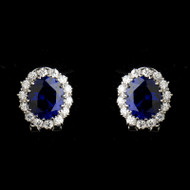 Kate Middleton Inspired Sapphire Blue Wedding Earrings