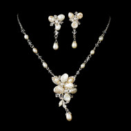 Keshi Pearl Silver Plated Bridal Jewelry Set
