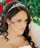 Elegant Keshi Pearl Tiara and Wedding Jewelry Set