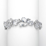 Multi Shape Cubic Zirconia Wedding Bracelet 3562B