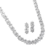 Stunning Cubic Zirconia Wedding Jewelry Set Mariell  2020S