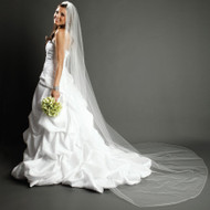 Embroidery Pencil Edge Cathedral Bridal Veil
