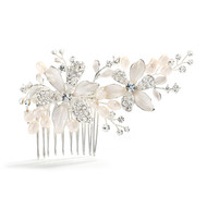 Enchanting  Freshwater Pearl Wedding Comb 3578HC