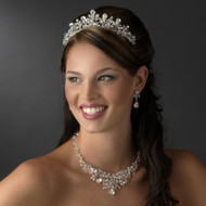 Enchanting Crystal Wedding Tiara and Matching Jewelry Set