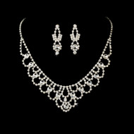 Elegant Rhinestone Wedding or Prom Jewelry Set