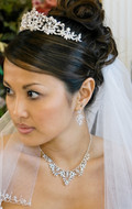 Regal Crystal and Pearl Wedding Tiara and Jewelry Set