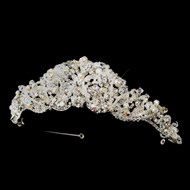 Elaborate Clear and AB Crystal and Rhinestone Wedding Tiara - sale!