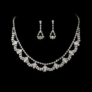 Rhinestone Necklace and Earring Set for Wedding, Prom