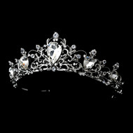Rhodium Silver Vintage Inspired Bridal Wedding Tiara