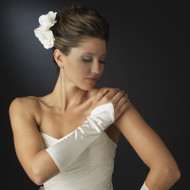 Satin Fingerless Elbow Length Bridal Glove