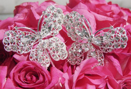 Set of 4 Large Crystal Butterfly Bouquet Jewelry