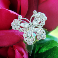 Set of 4 Small Crystal Butterfly Bouquet Jewelry