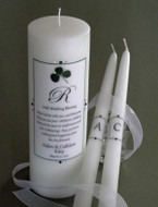Irish Simply Elegant Wedding Blessing Unity Candle Set