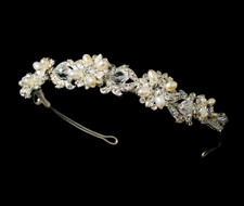 Freshwater Pearl and Crystal Wedding Headband Tiara hp7844