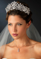 "Silver Plated 2 1/2"" Royal Wedding or Quinceanera Tiara - sale!"