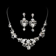 Elegant Silver Plated Bridal Jewelry Set