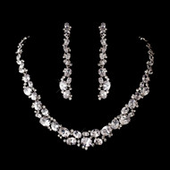 Silver Plated Cubic Zirconia Wedding Jewelry Set - sale!