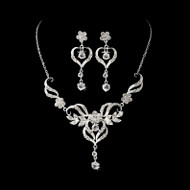 Romantic Filigree Heart Bridal Jewelry Set