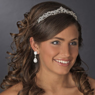 Silver Plated Princess Rhinestone Bridal Tiara
