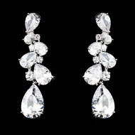 Stunning Cubic Zirconia Bridal Earrings