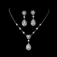 Cubic Zirconia Bridal Jewelry Wedding Set